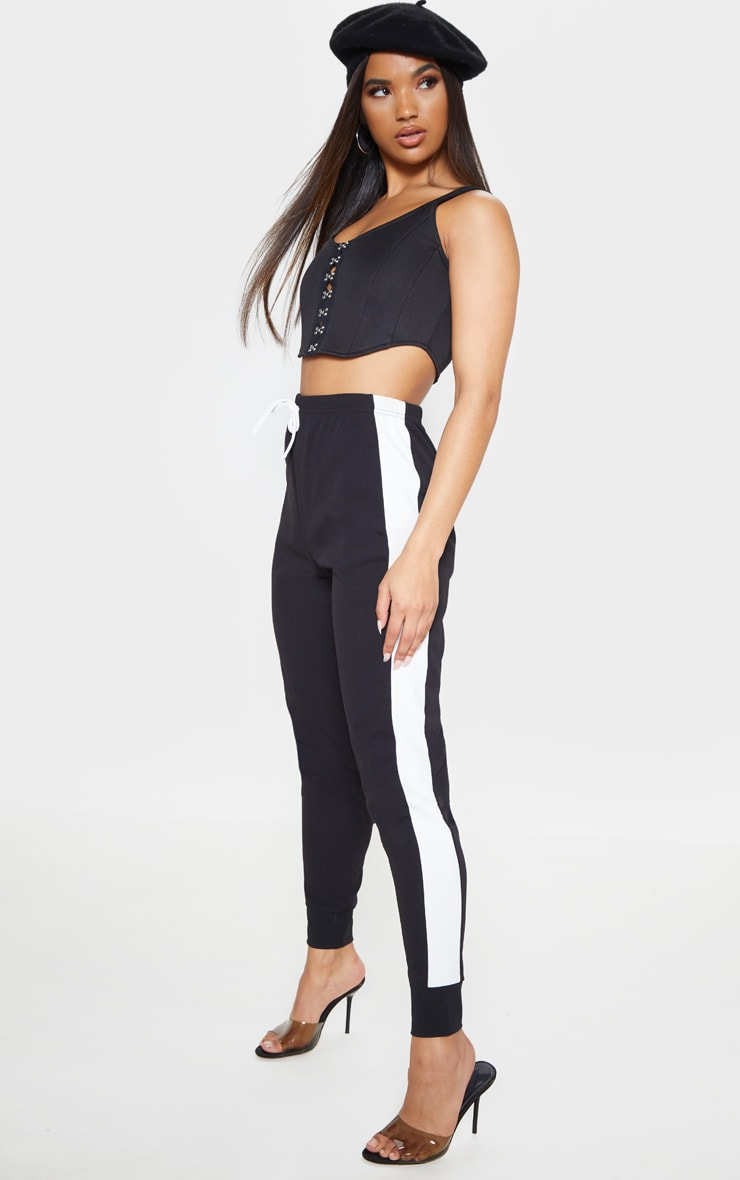 Black Side Stripe Detail Jogger 1
