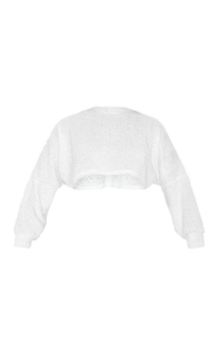 Cream Eyelash Batwing Knitted Jumper 3