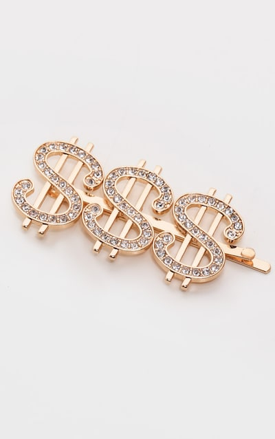 Gold Dollar Sign Hair Clip