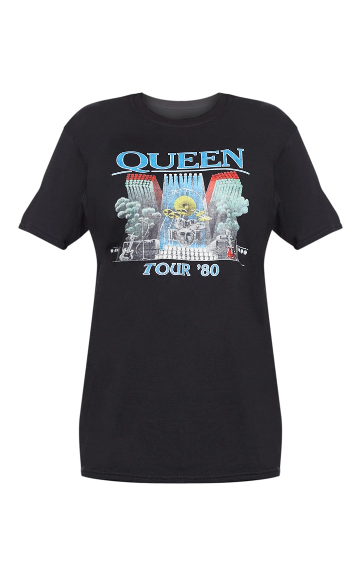 Tee-shirt oversized noir à imprimé Queen Tour 3
