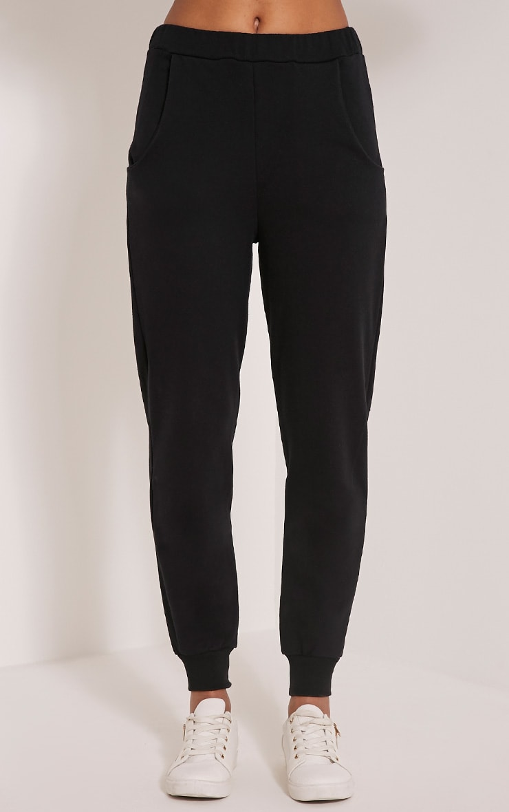 Ellia Black Basic Joggers 2
