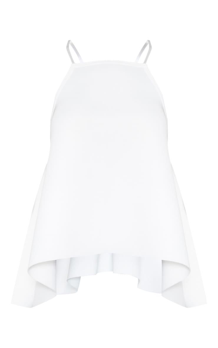 White Scuba Flounced Cami 3