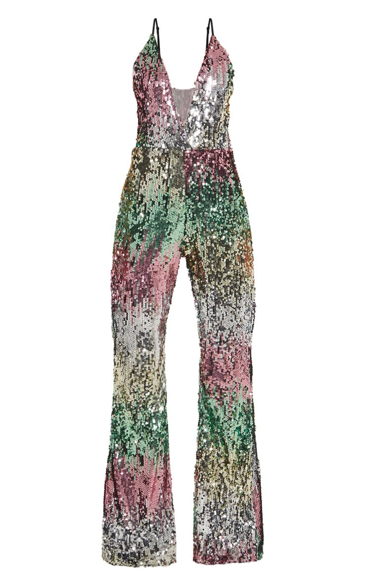 Multi Sequin Plunge Jumpsuit 3