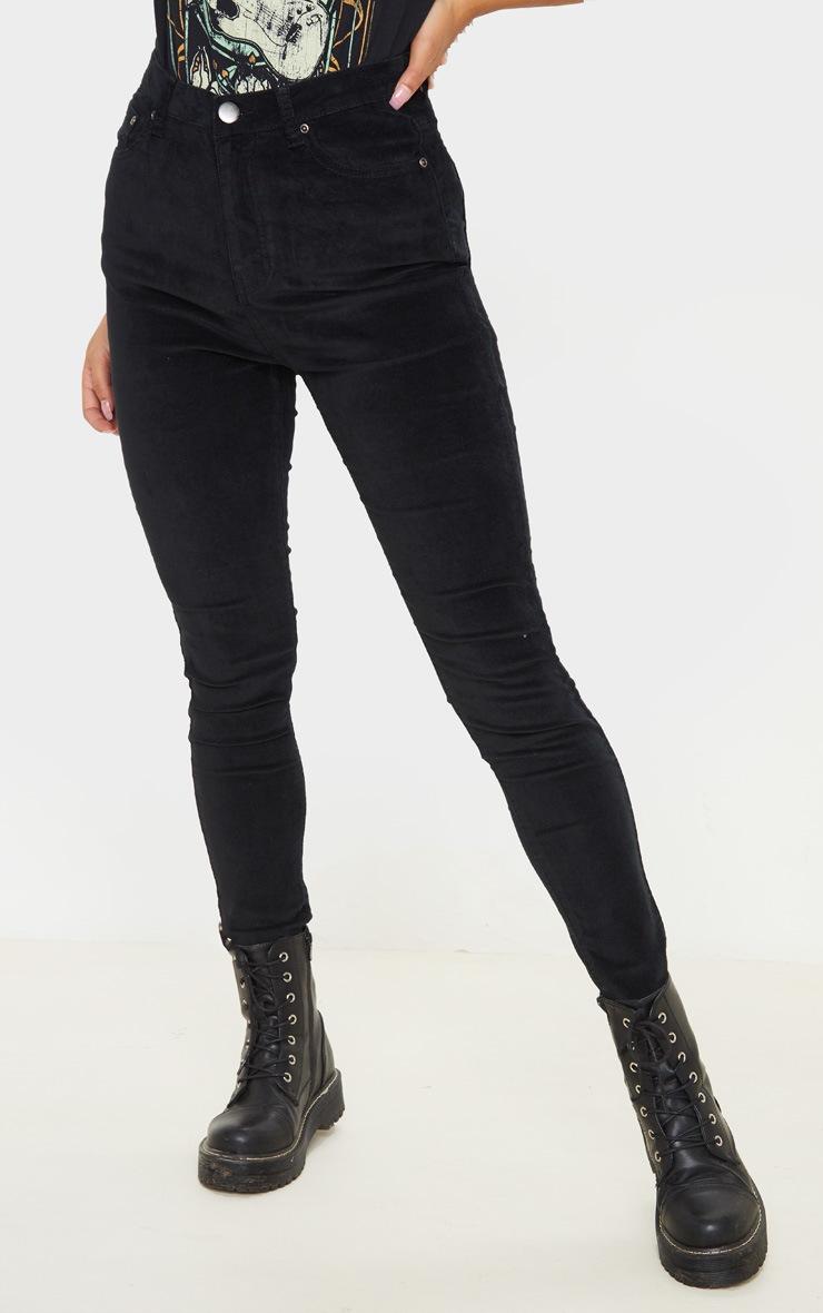 Black Velvet Skinny Jeans  2