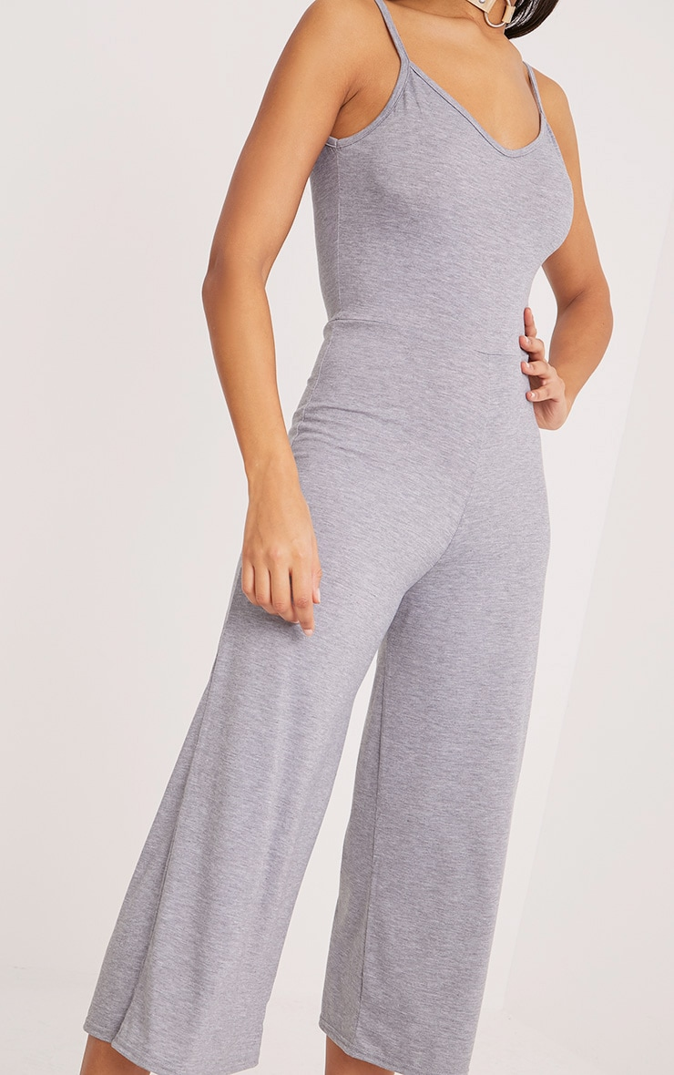 Kailyn Grey Jersey Culotte Jumpsuit 5
