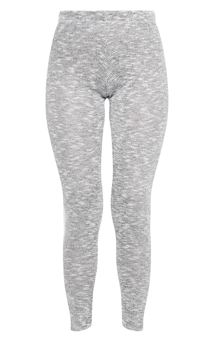 Grey Brushed Marl Split Hem Leggings 5