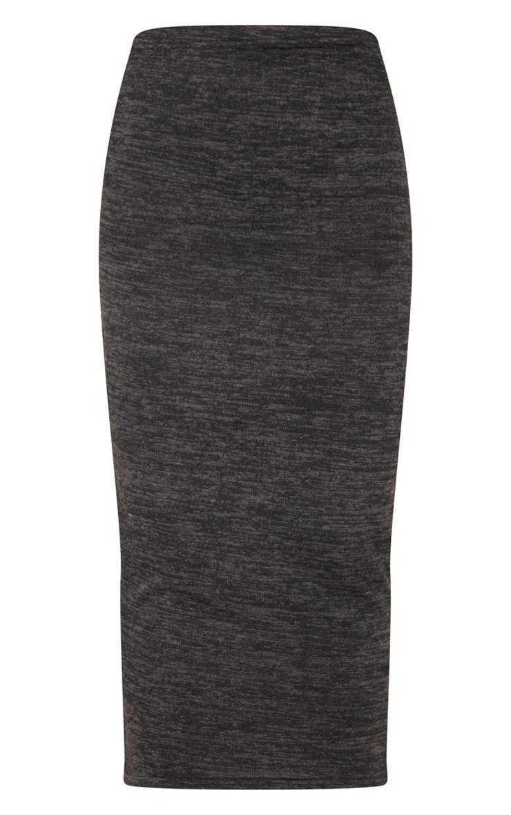 Black Lightweight Knit Maxi Skirt  3