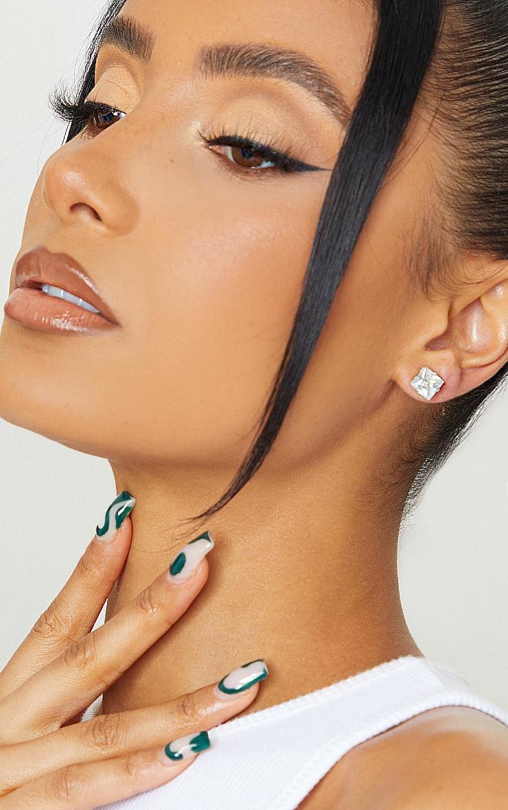 Valeane clous d'oreilles argent en cristal 1