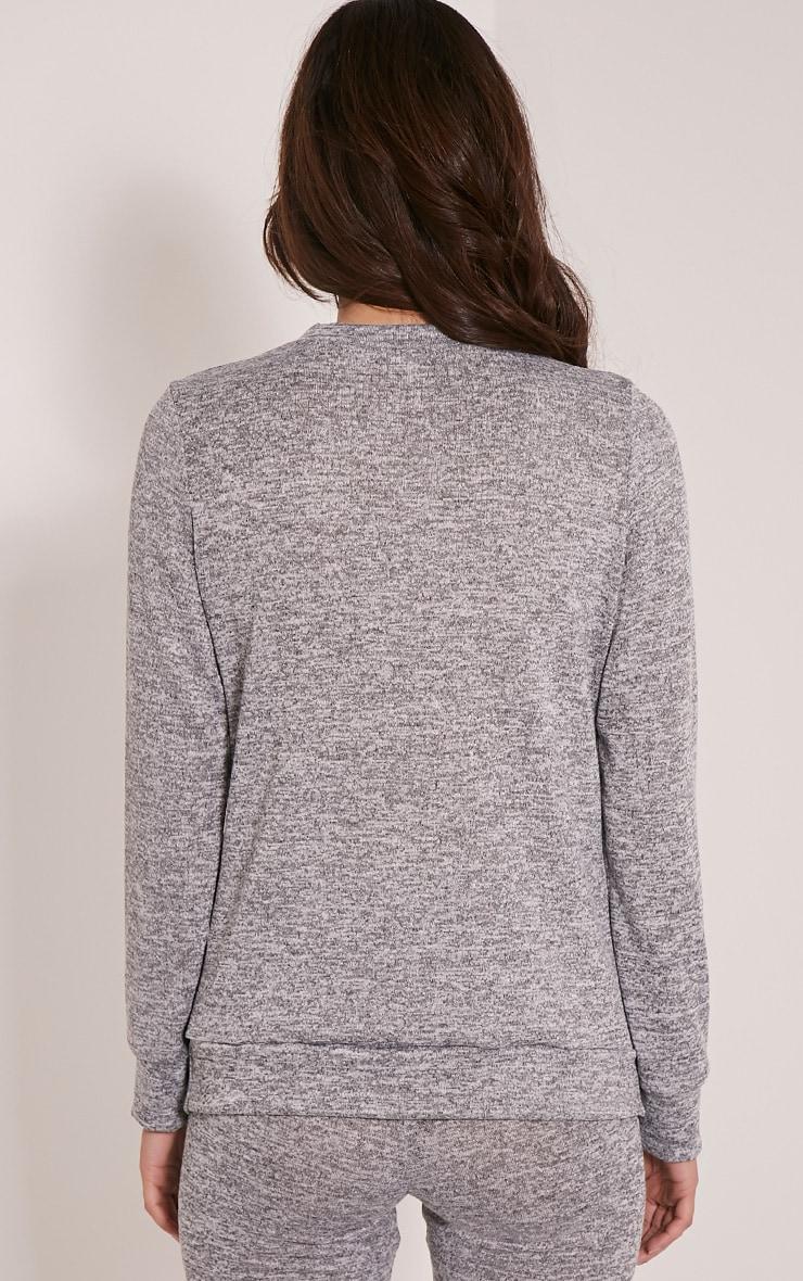 Dannie Grey Long Sleeve Tracksuit Sweatshirt 2