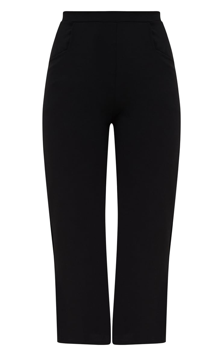 Pantalon large noir court 3