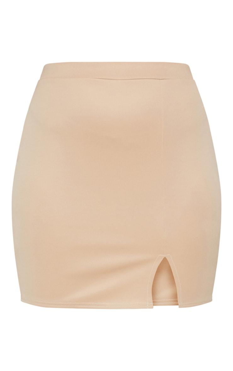 Plus Stone Basic Mini Split Front Skirt 3