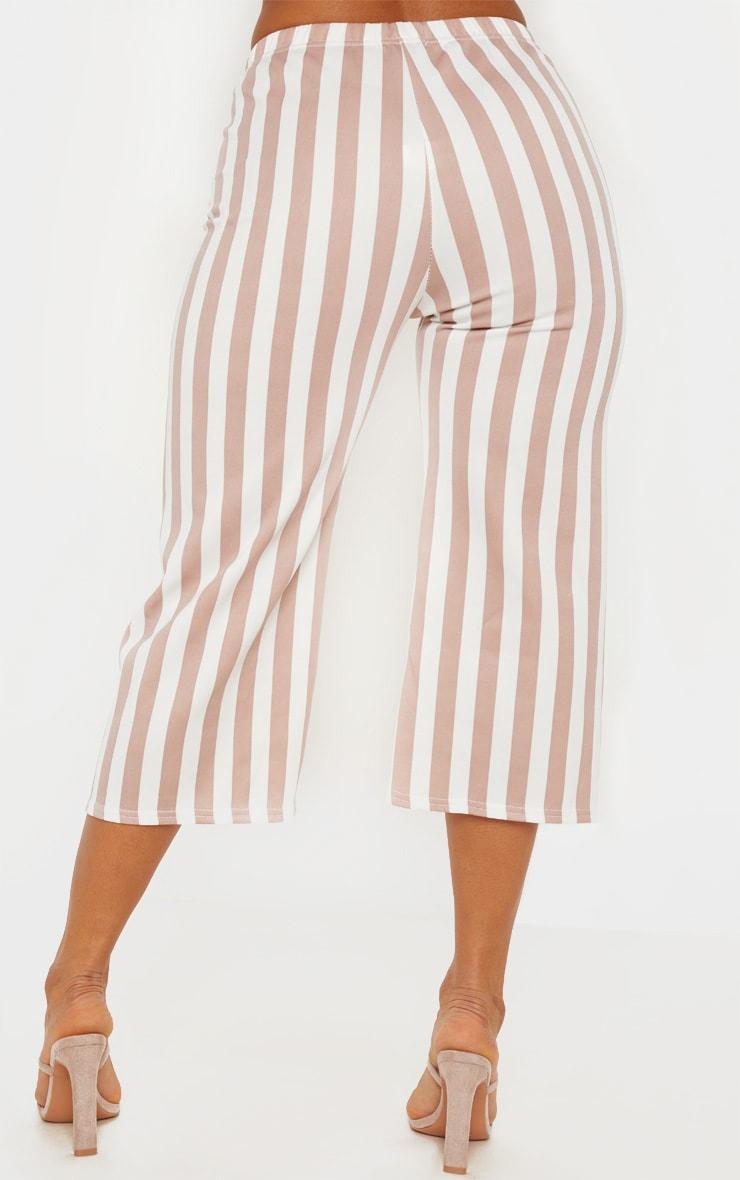 Camel Striped Culottes  4