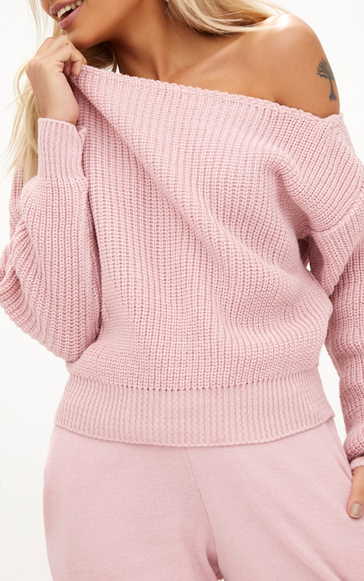 Blush Off Shoulder Jumper 5