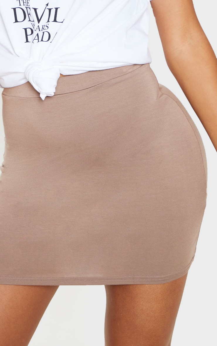 Taupe Ultimate Jersey Mini Skirt 6