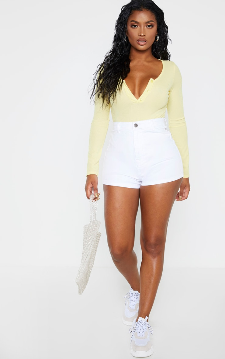 Shape White Disco Shorts 5