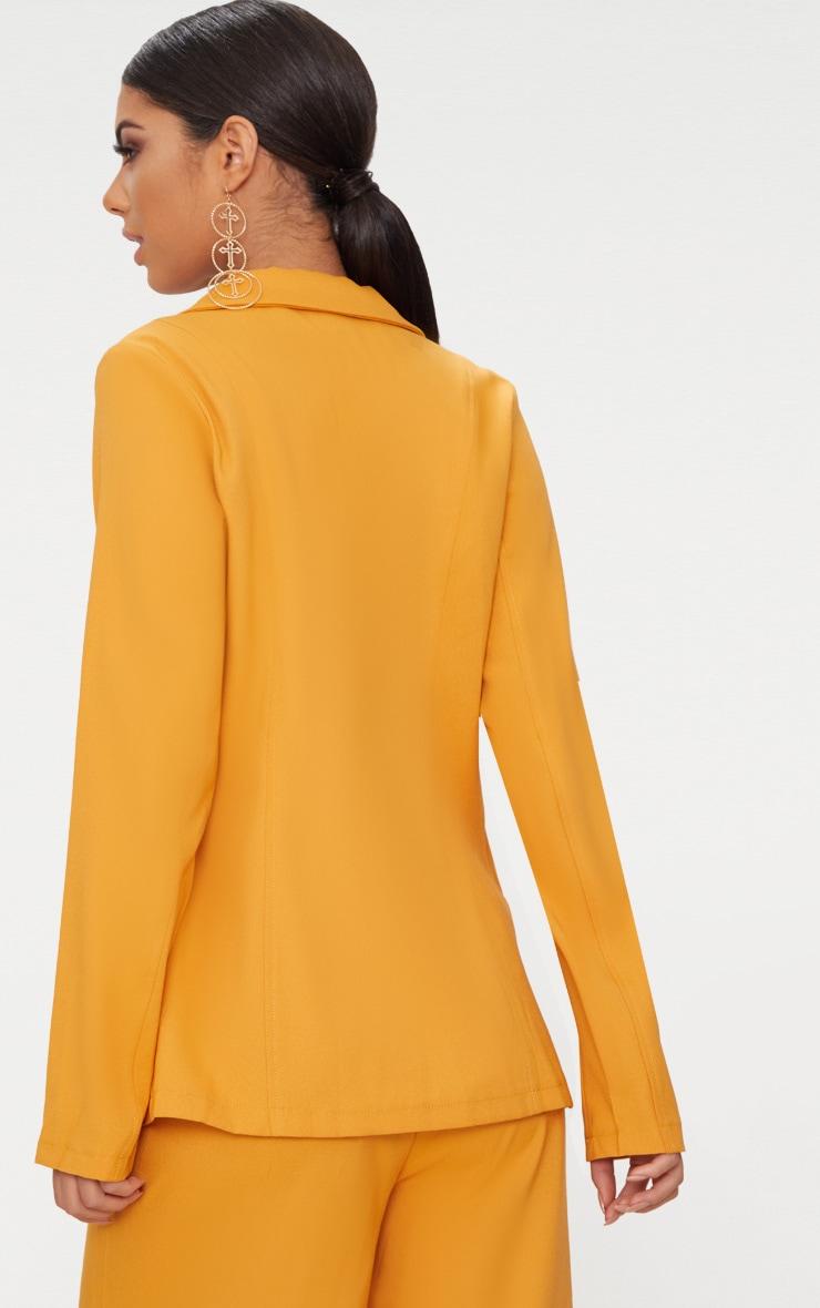 Blazer boyfriend jaune moutarde 3