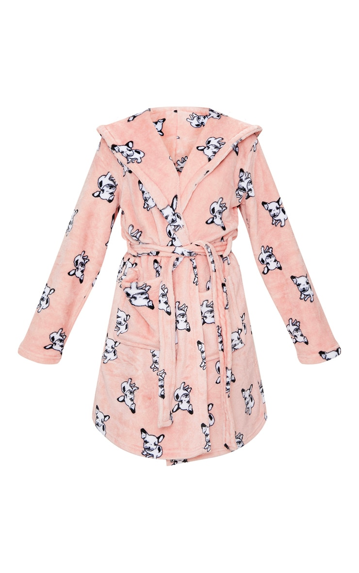 French Bulldog Printed Dressing Gown 3