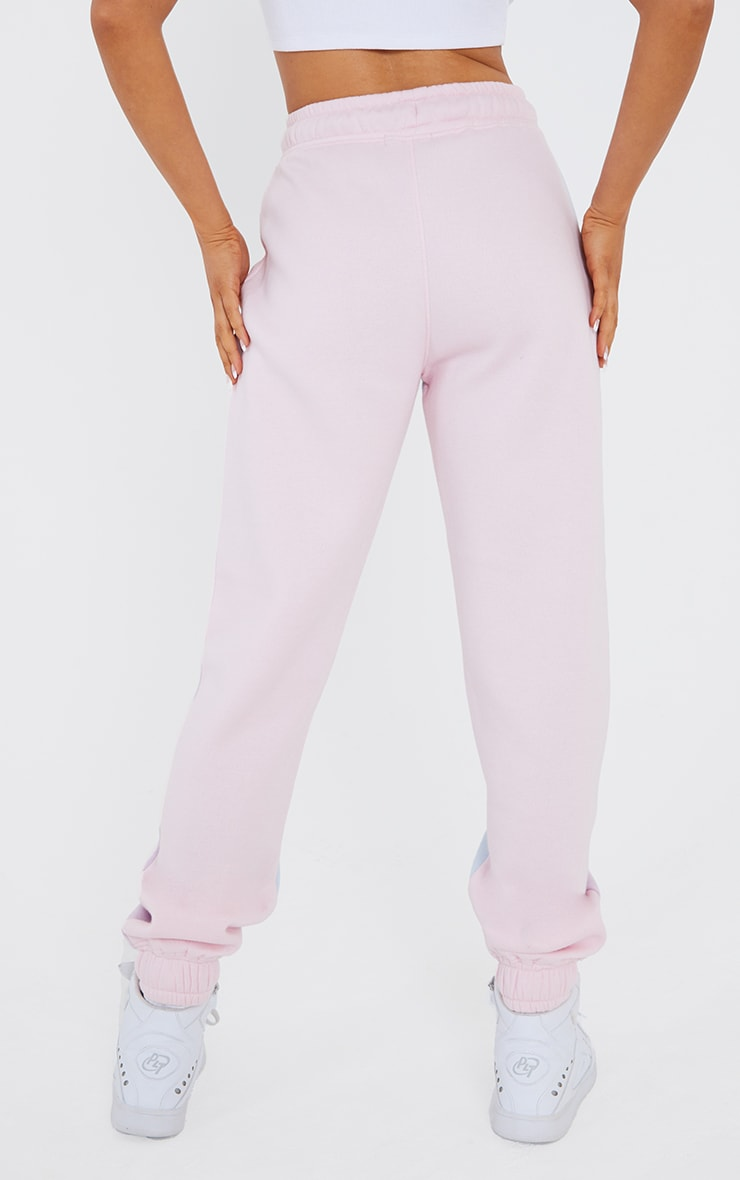 Baby Blue Contrast Panel Joggers 3