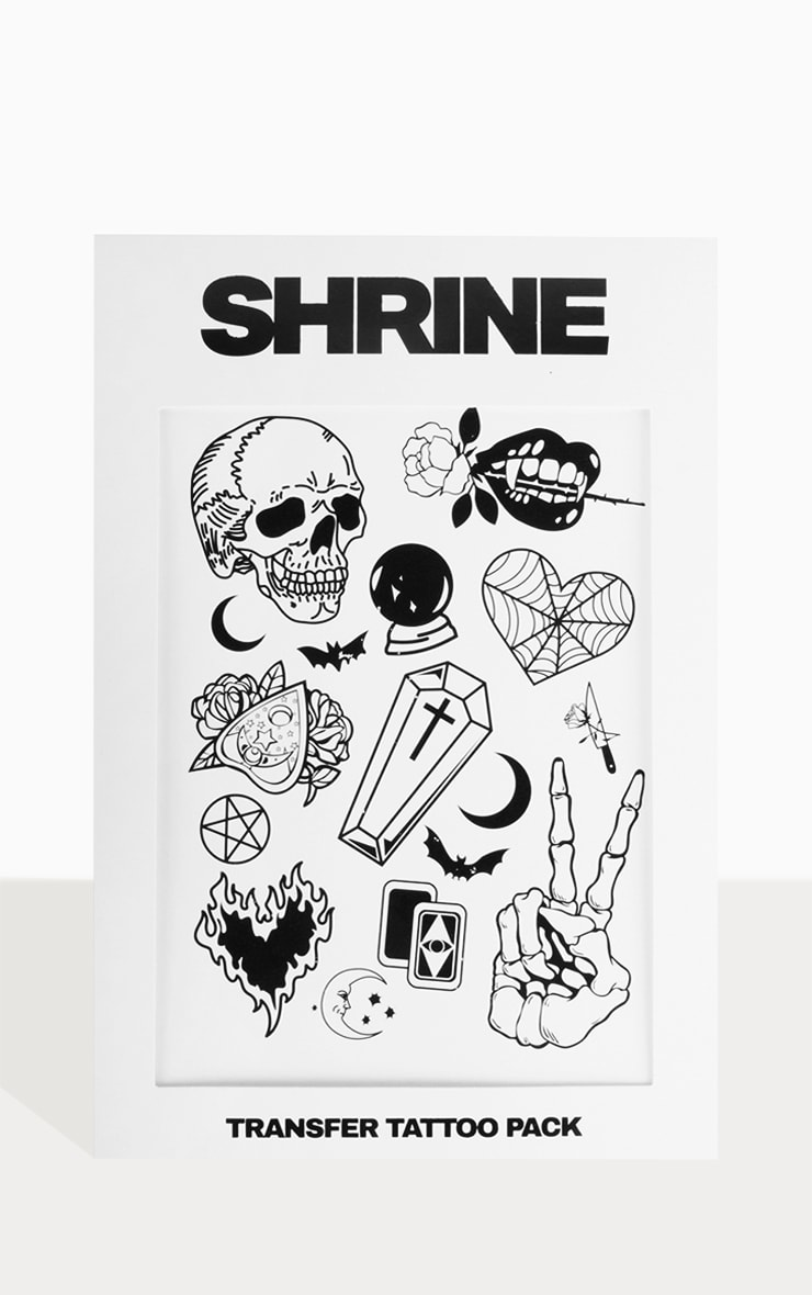 The Gypsy Shrine Halloween Skull Transfer Tattoo 1