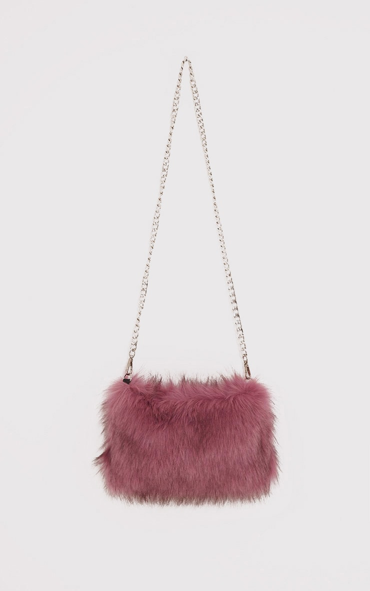 Christah Rose Faux Fur Chain Shoulder Bag 2