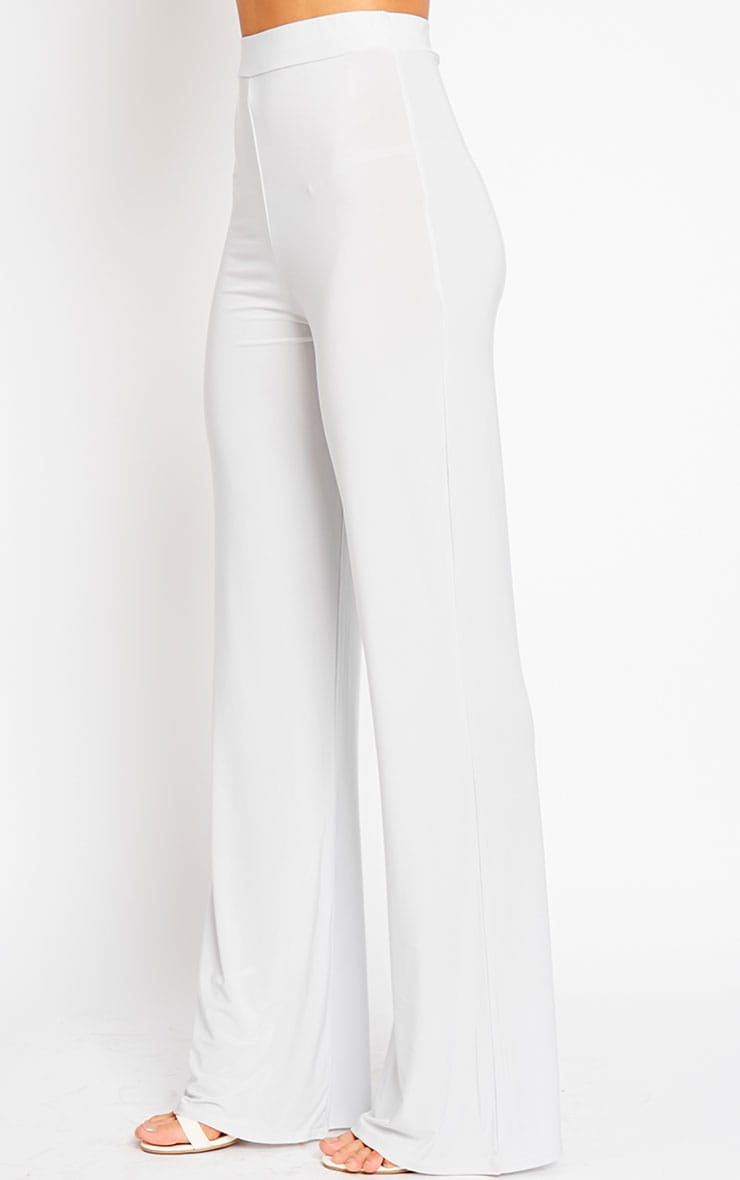 Remi Grey Soft Touch Wide Leg Trousers 3
