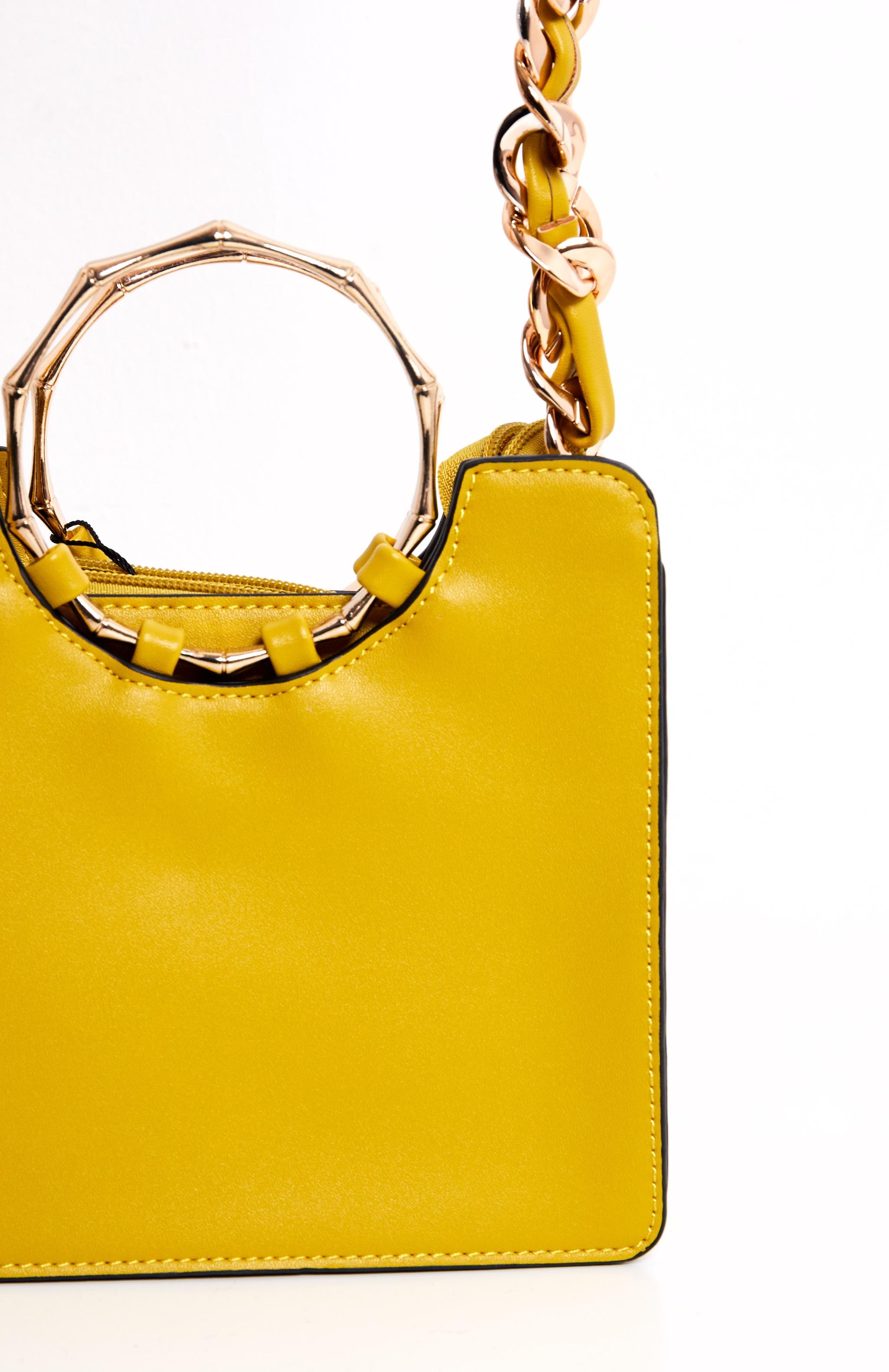 Yellow Bamboo Mini Bag 4