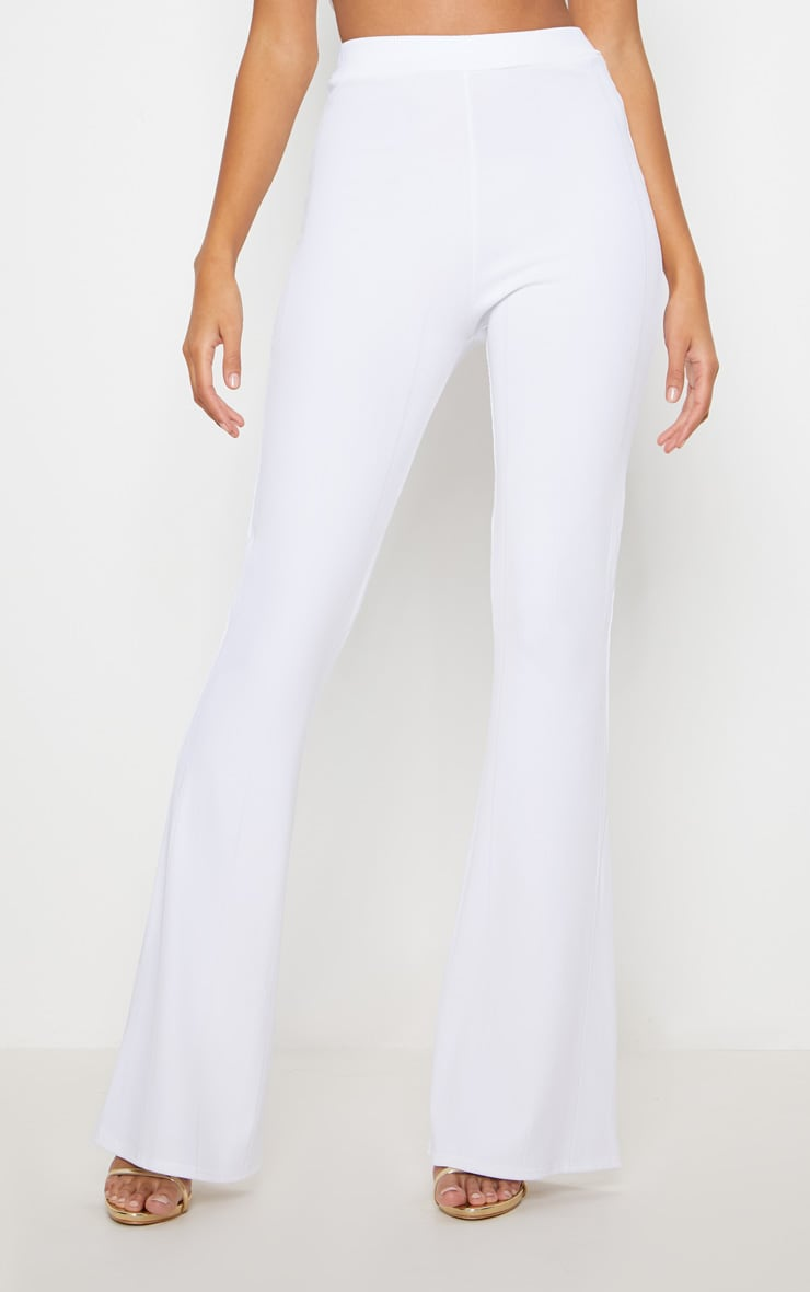 White Bandage Flared Trouser 2