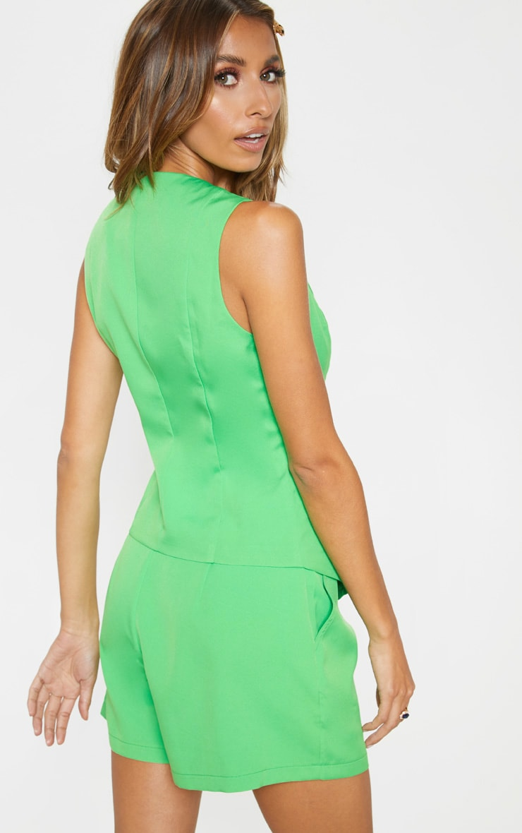 Neon Green Fitted Waistcoat 2