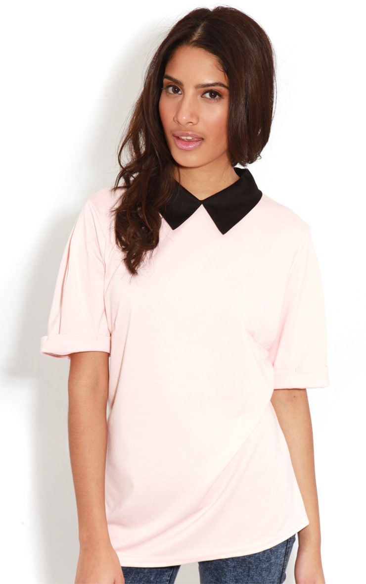 Albany Peach Collar Top 1
