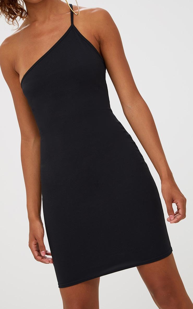 Petite Black Single Strap Bodycon Dress 5