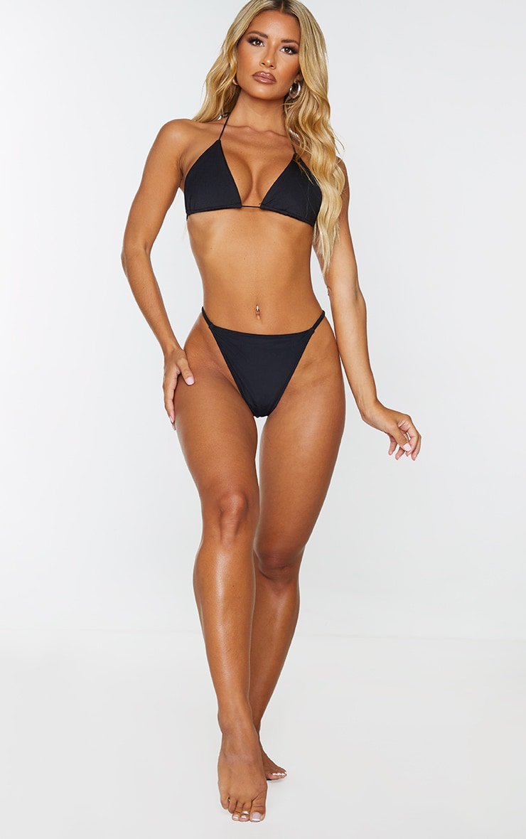 Bas de bikini style tanga noir 4