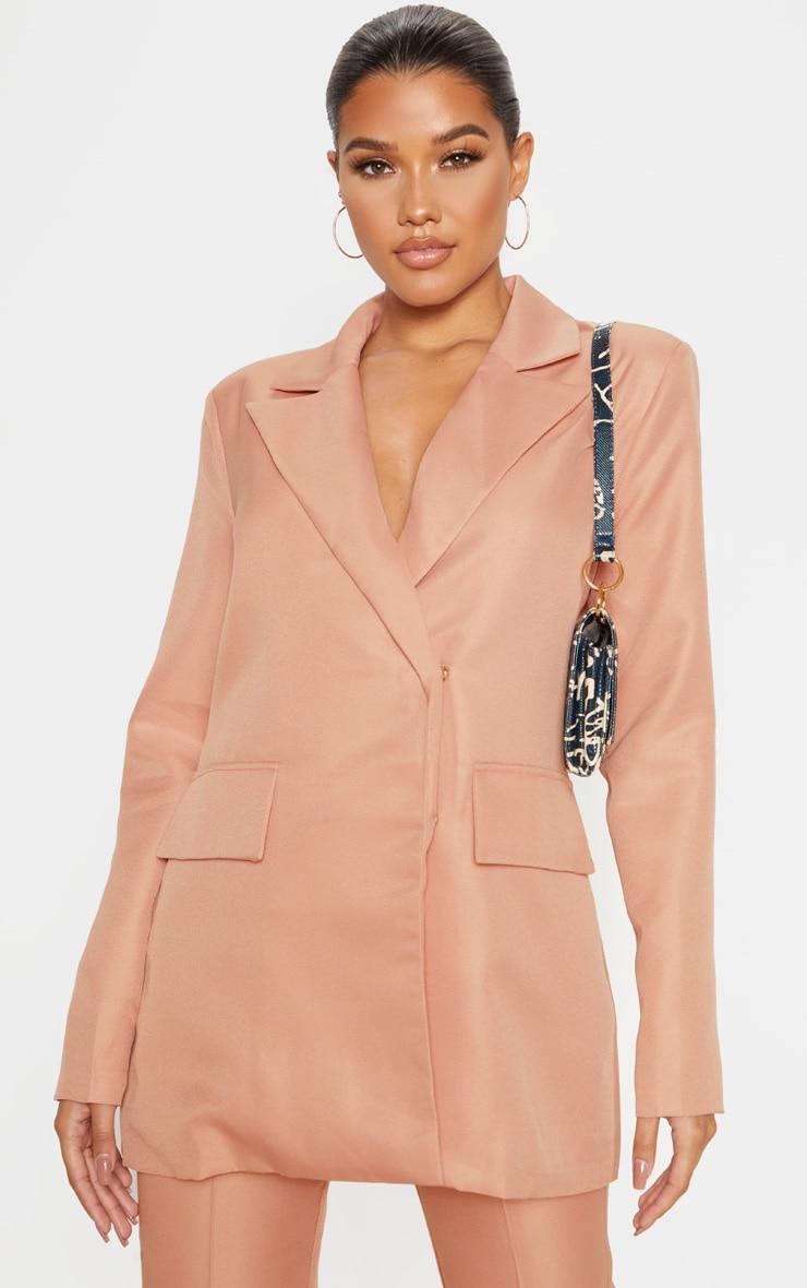 Rose Oversized Woven Blazer 1