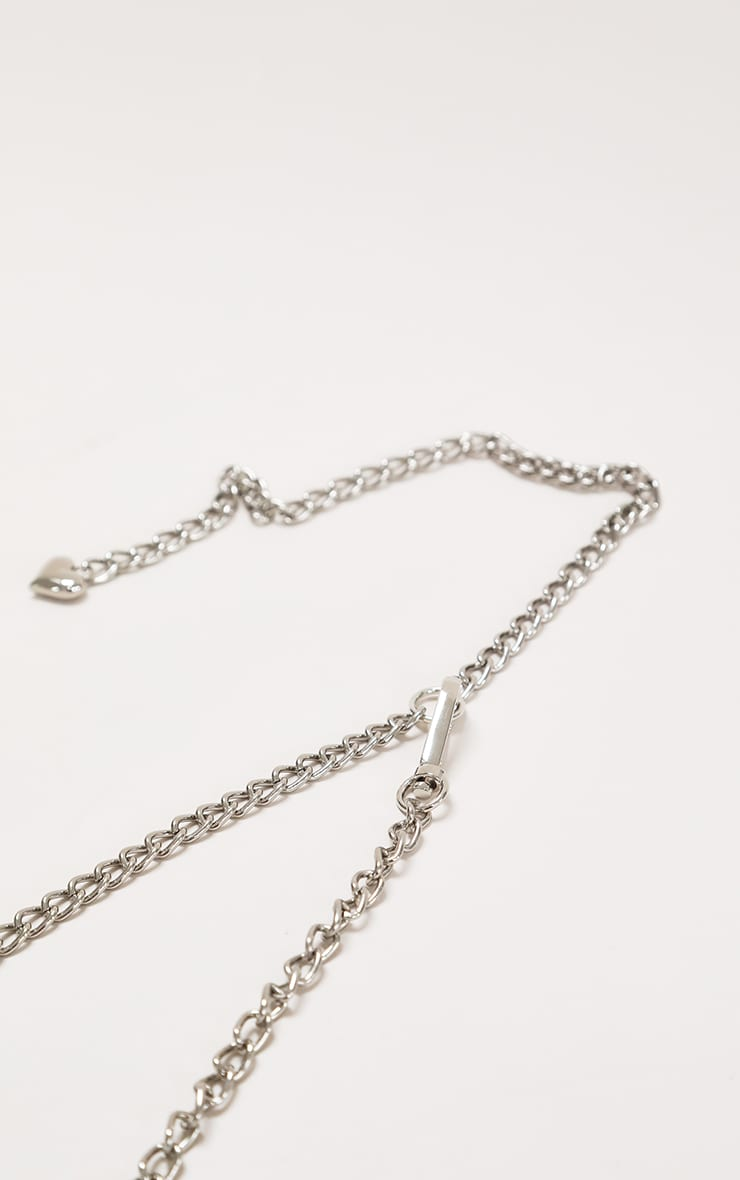 White Clear Pu Chain Belt Bag 3