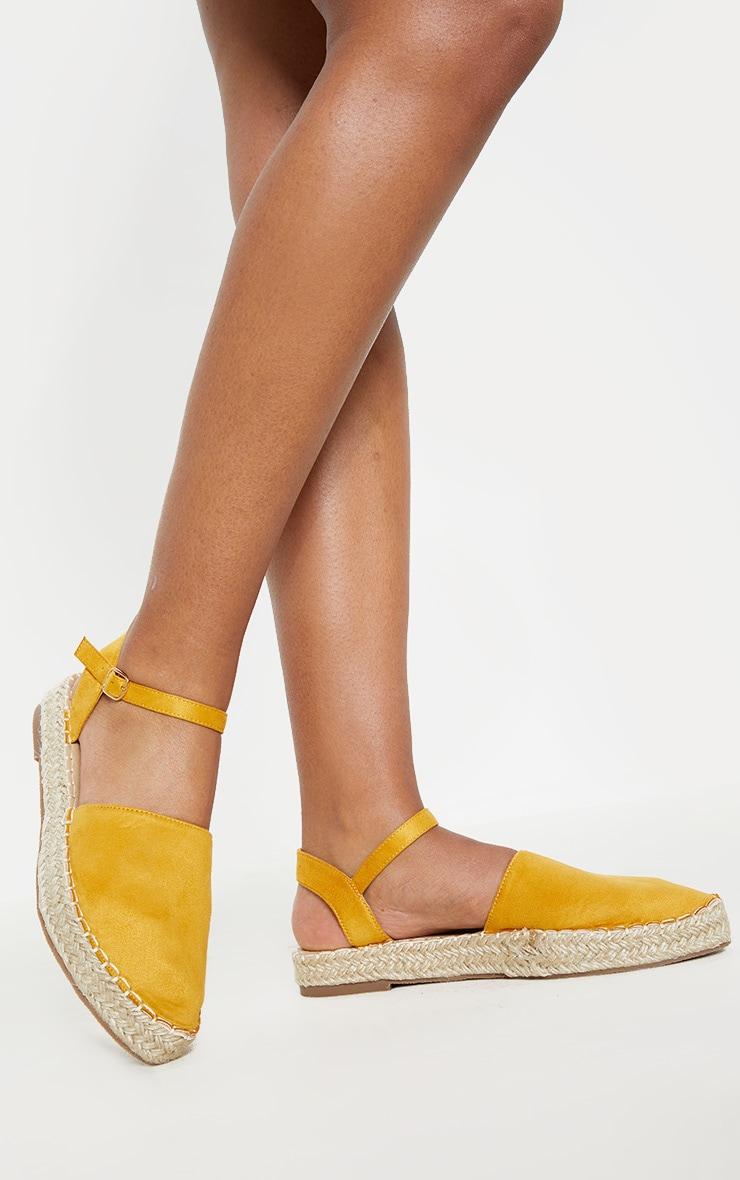 Yellow Espadrille Flat Sandal  1