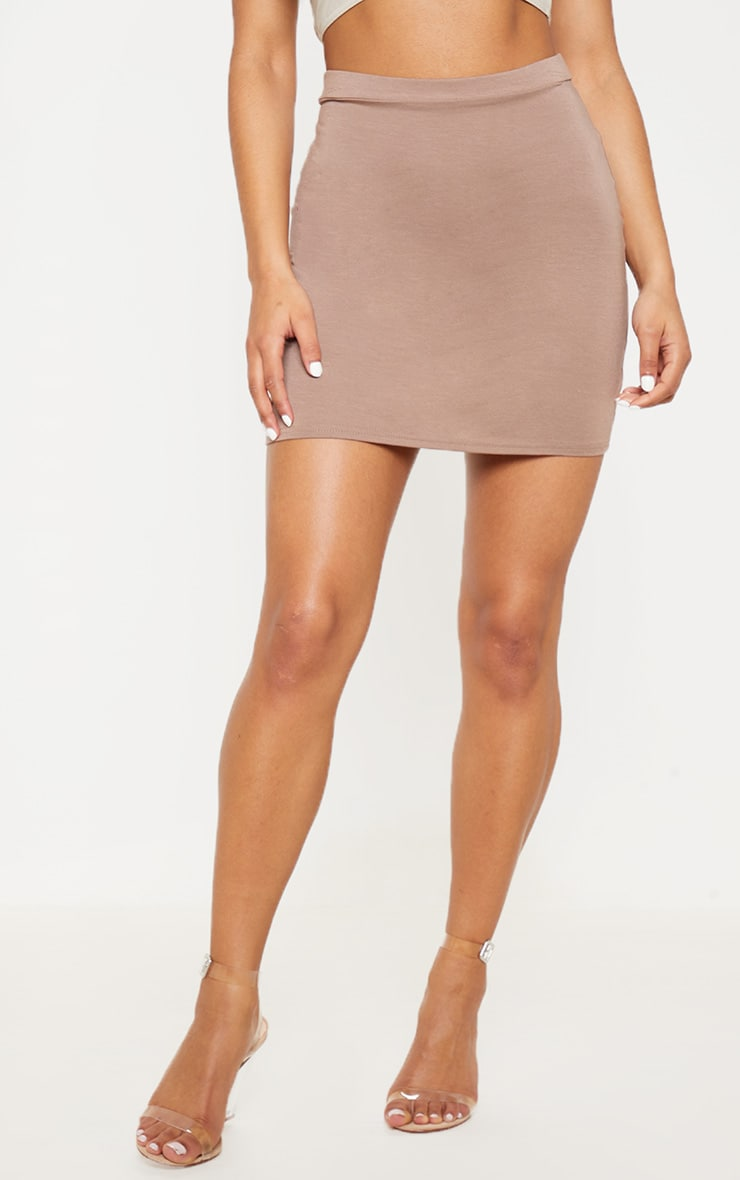 Taupe Ultimate Jersey Mini Skirt 2