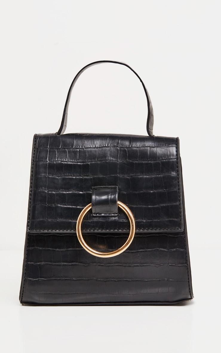 Black Ring Detail Bag 2
