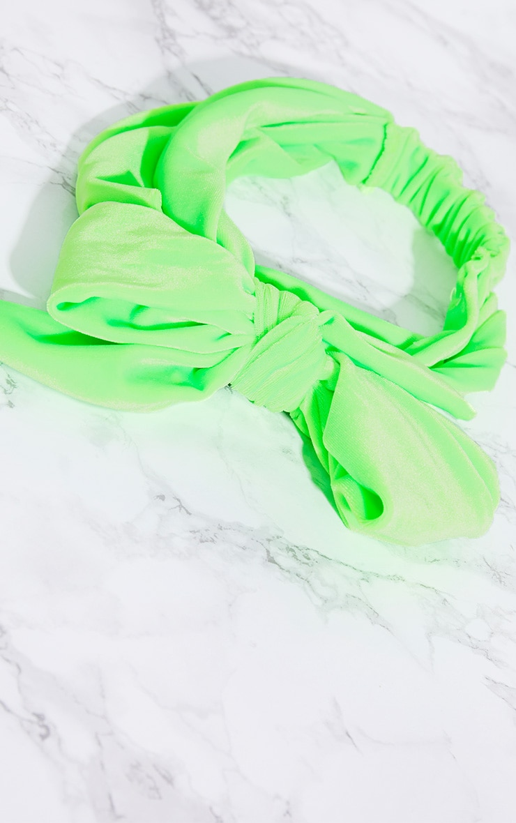 Lime Velvet Wrap Headband 5