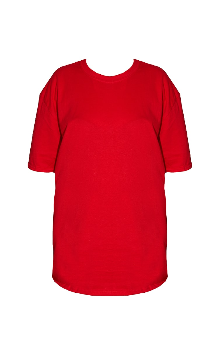 Plus Ultimate Red Oversized T Shirt 5