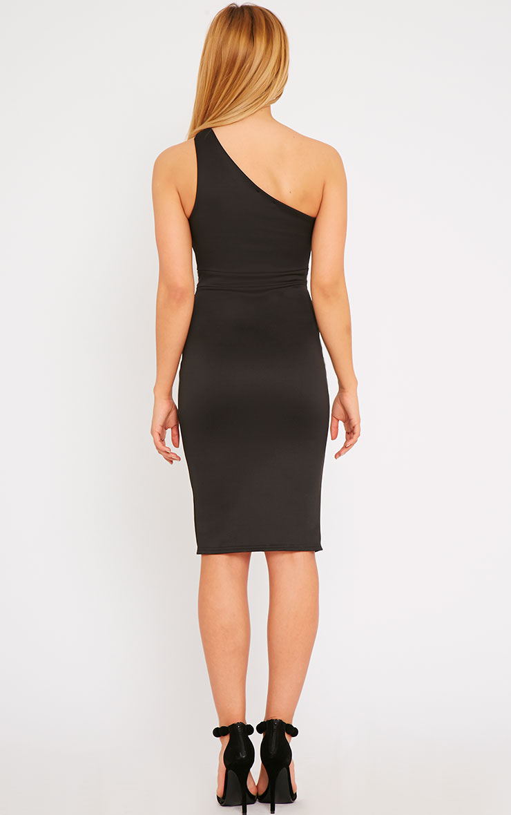 Sonia Black One Shoulder Midi Dress 2