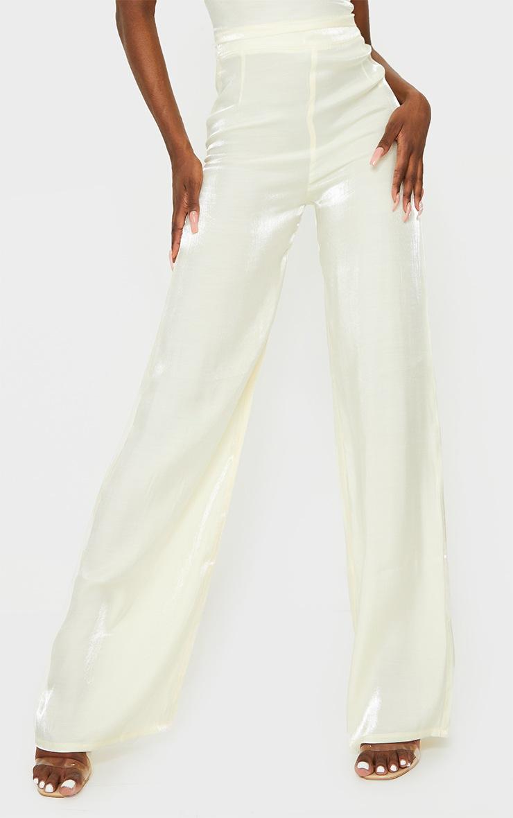Tall Cream Wide Leg Trouser 2