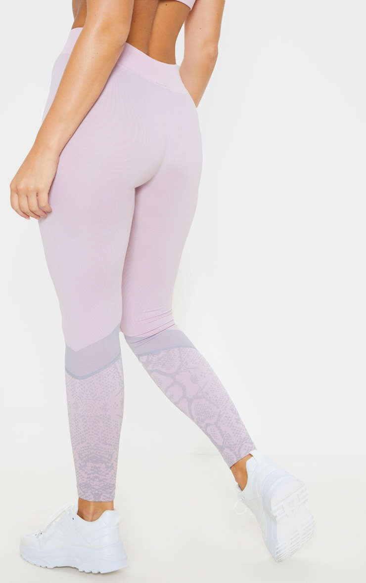 Pink Snake Seamless Sports Legging 4