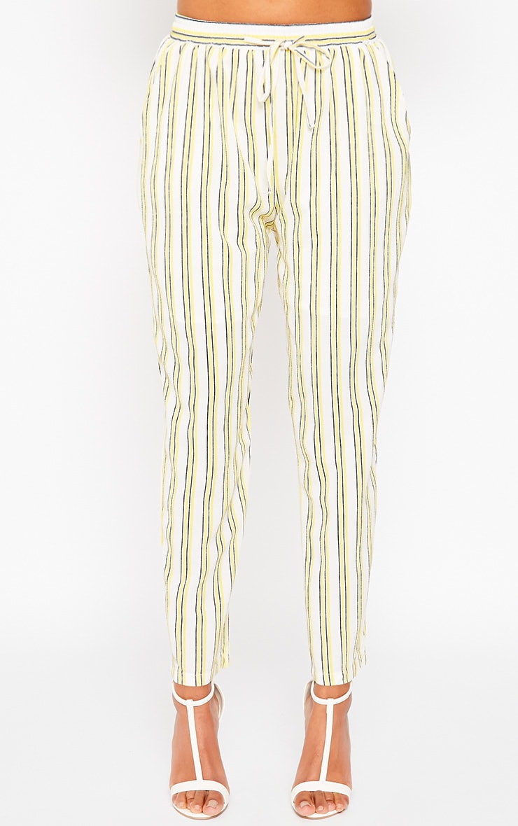 Kali Cream Stripe Trousers 2