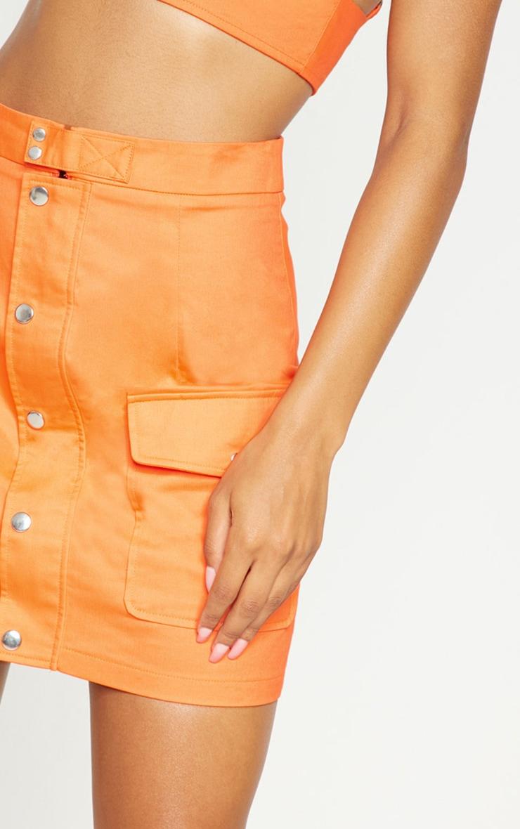 Orange Utility Skirt 7