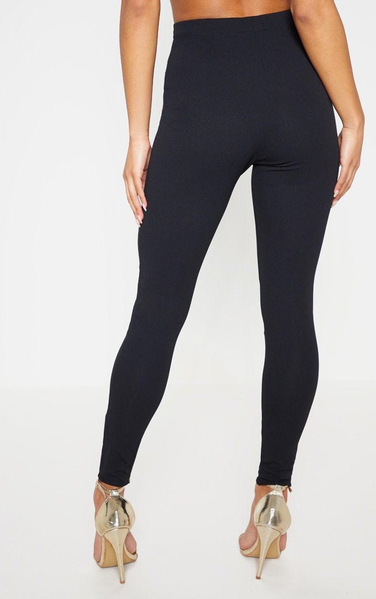 Black High Waisted Straight Leg Pants 5