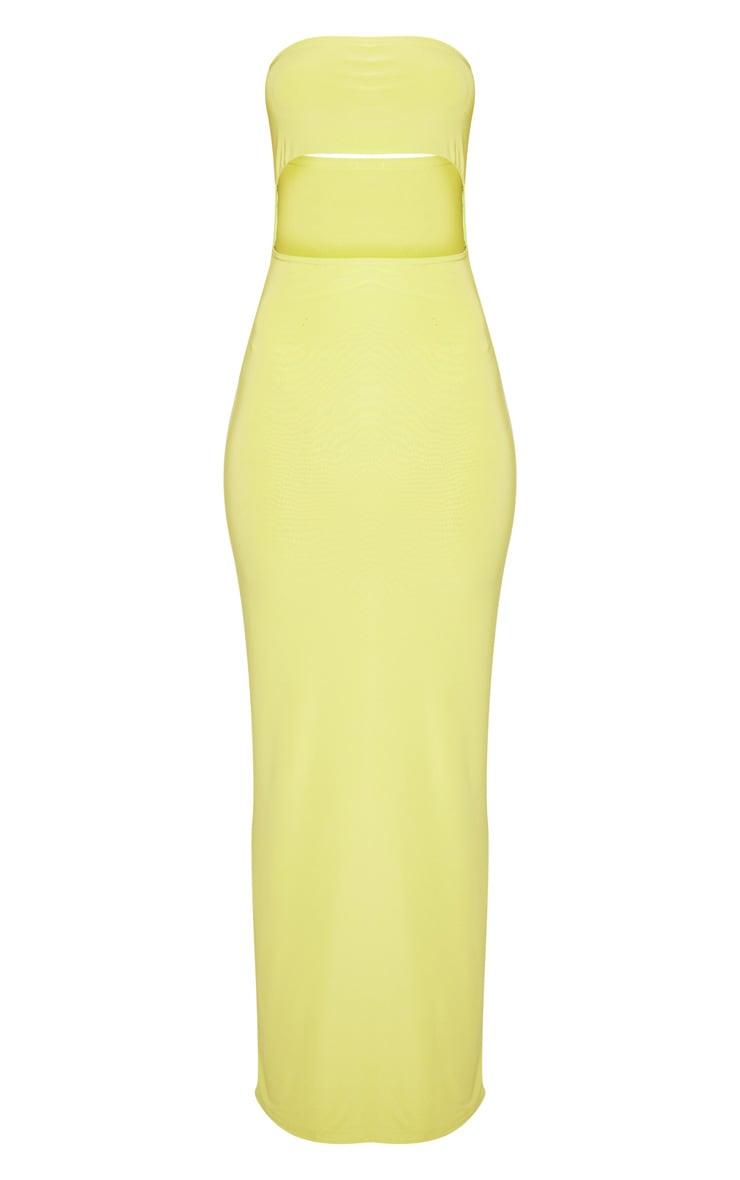 Lime Bandeau Cut Out Maxi Dress 3
