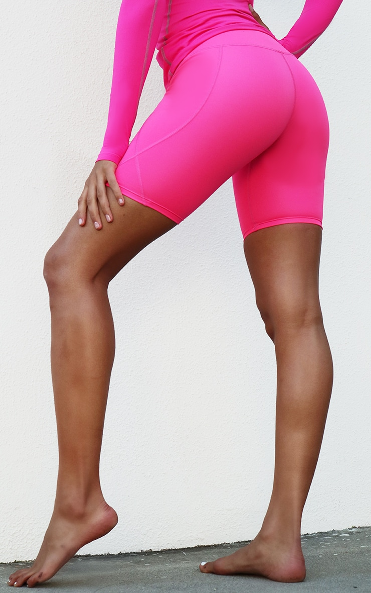 Pink Side Pocket Cycle Short 2