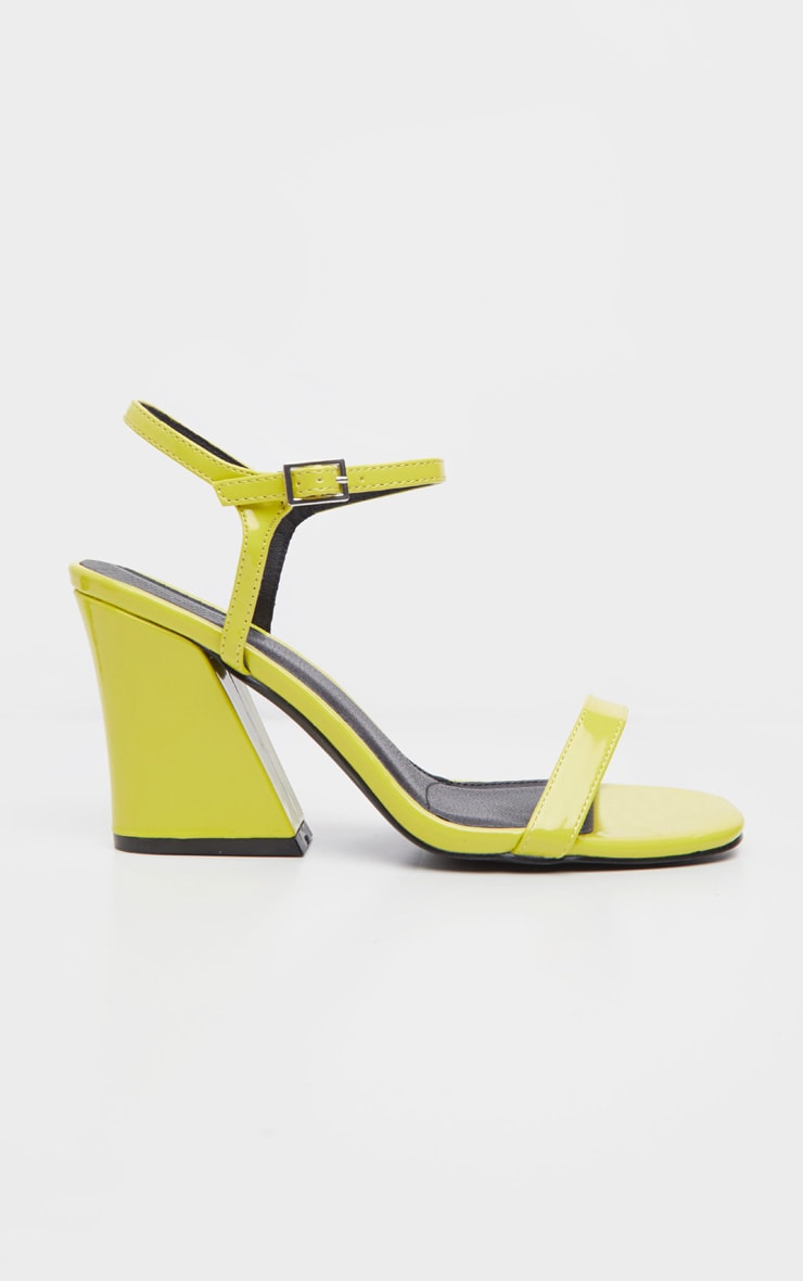 Neon Yellow Block Heel Sandal 3