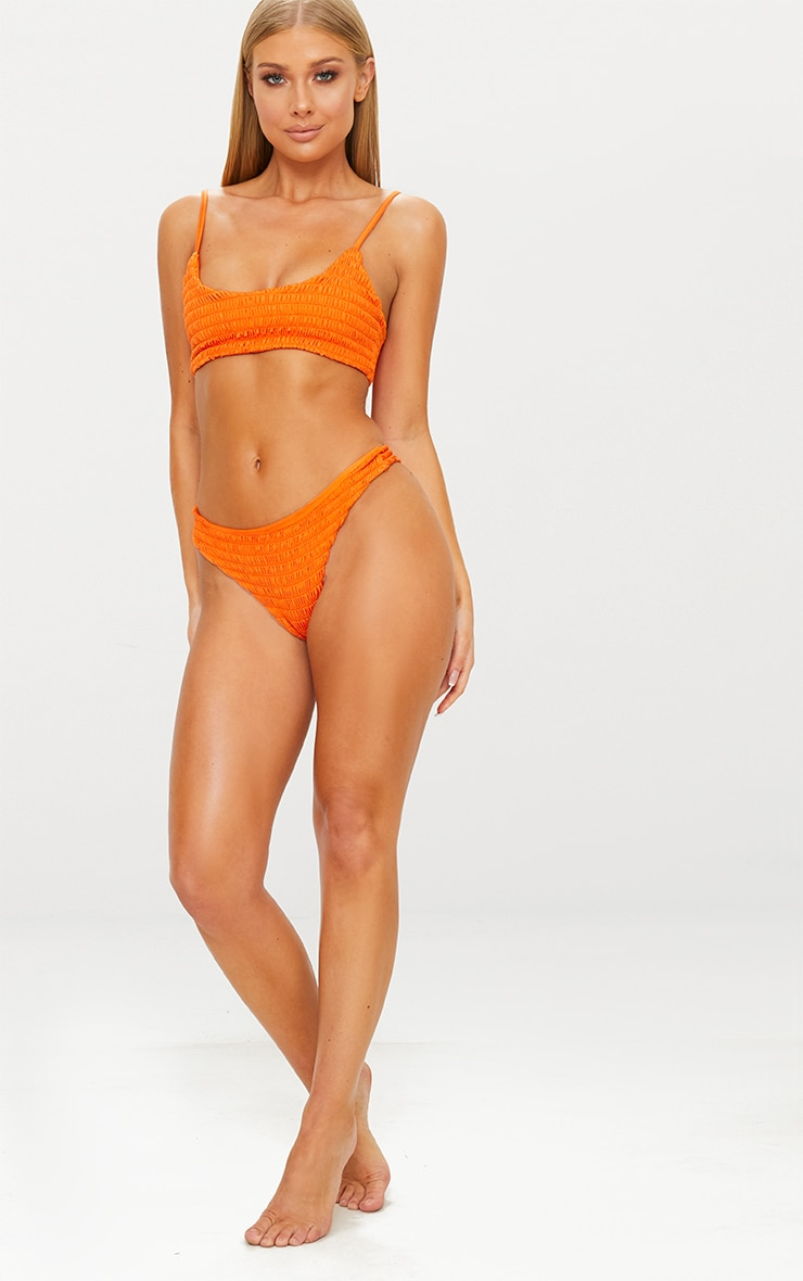 Burnt Orange Crinkle Bikini Bottom 3