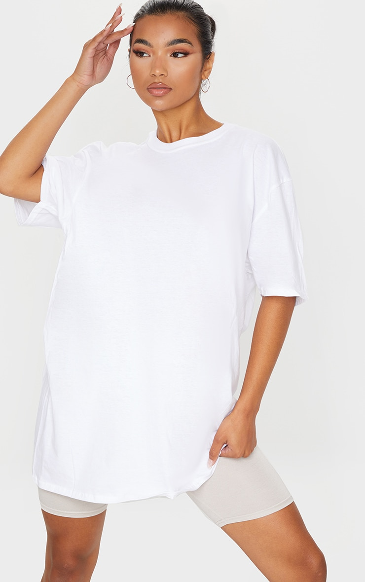 White Oversized Boyfriend T Shirt