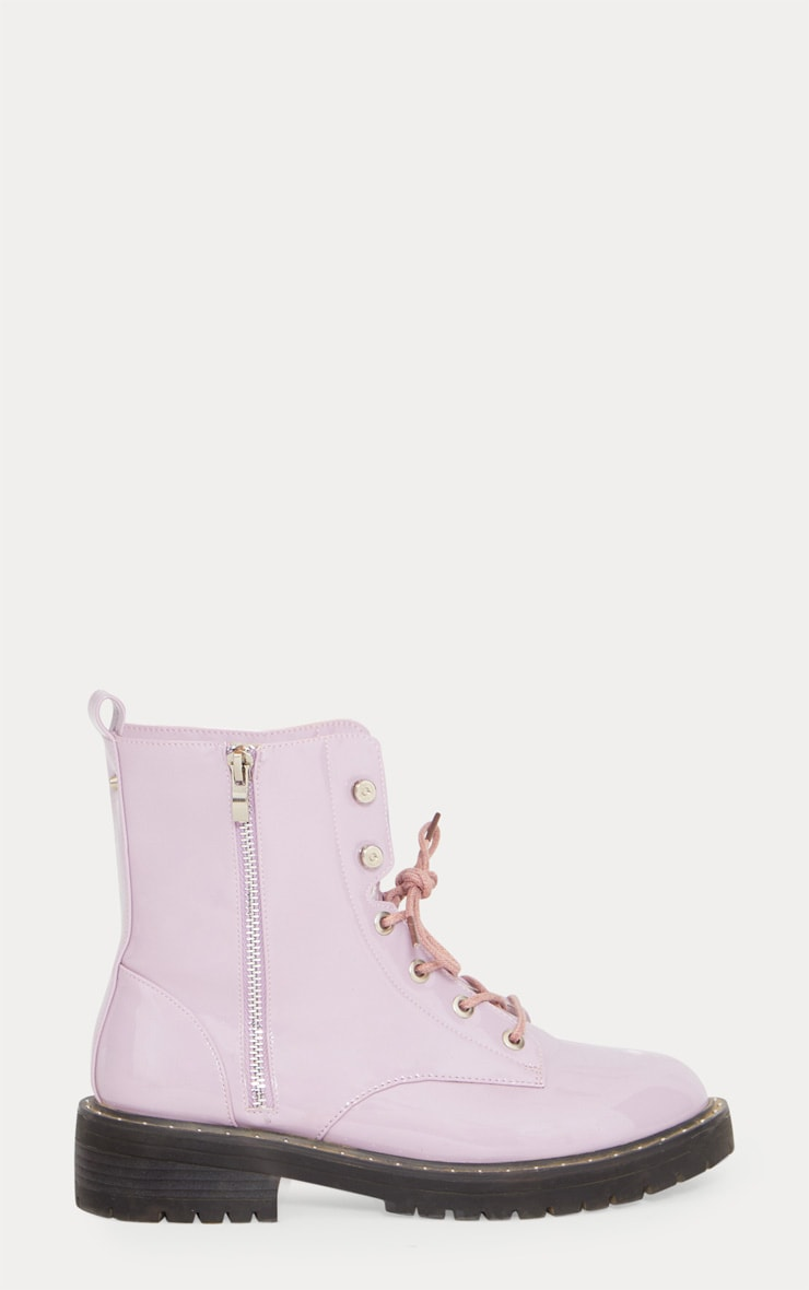Lilac Chunky Lace Up Boot 4